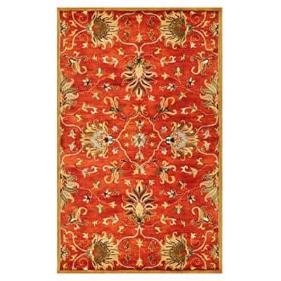 Josephine Sienna 8 ft. x 10 ft. Rectangle Wool Scatter/Accent Rug