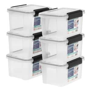 6.5 Qt. WEATHERTIGHT Storage Bin in Clear (6-Pack)