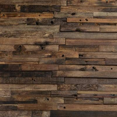 Timber Brownheart 11.81 in. x 23.62 in. Wood Mosaic Wall Tile (1.93 sq. ft.)