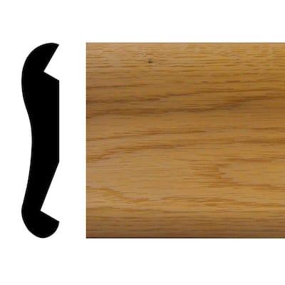 7/8 in. x 4-1/2 in. x 96 in. Oak Bar Rail Moulding