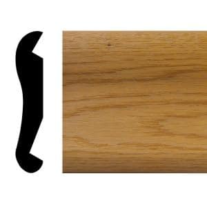 7/8 in. x 4-1/2 in. x 72 in. Oak Bar Rail Moulding