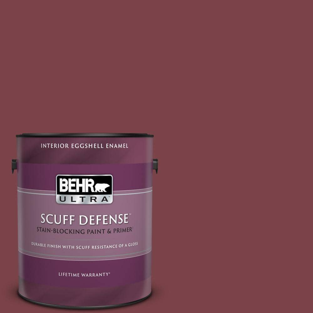 Behr Ultra 1 Gal Ppu1 13 Spiced Wine Extra Durable Eggshell Enamel Interior Paint Primer 275301 The Home Depot