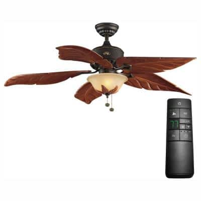 Antigua Plus 56 in. LED Oil-Rubbed Bronze Ceiling Fan with Light Kit and Remote Control