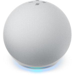Echo Dot (4th Gen) with Premium Sound, Smart Home Hub, and Alexa - Glacier White