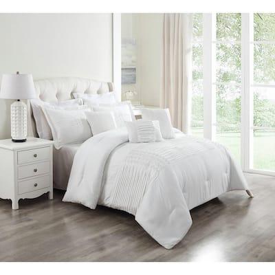 Geonna 6-Piece White Full/Queen Comforter Set