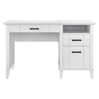 Hazelridge 48 in. White Lift-Top Desk