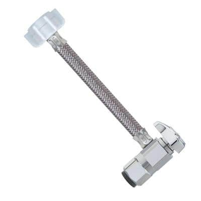 1/2 in. Nom Push Connect x 7/8 in. Ballcock x 12 in. SpeediOne Braided Toilet Connector and 1/4-Turn Valve