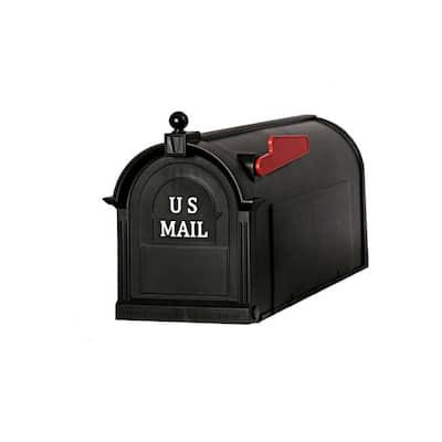 Ambrose Black Post Mount Mailbox
