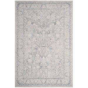 Reflection Light Gray/Cream 6 ft. x 9 ft. Border Distressed Area Rug