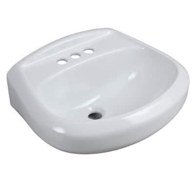 Petite Aragon 8-3/8 in. Pedestal Sink Basin in White