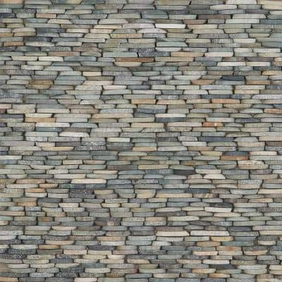 Countryside Dark Blend Stacked Sliced 4 in. x 11 in. Mosaic
