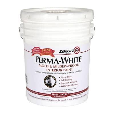 Perma-White 5 gal. Mold & Mildew-Proof Semi-Gloss Interior Paint