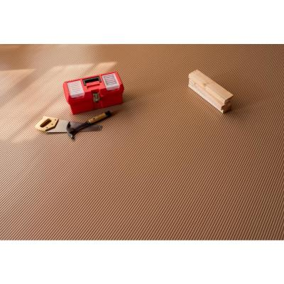 Rib 5 ft. x 10 ft. Sandstone Vinyl Garage Flooring Cover and Protector