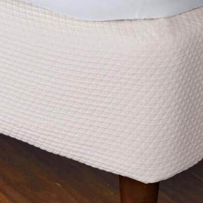 Madelyn Matelasse Cotton Box Spring Cover in Ivory