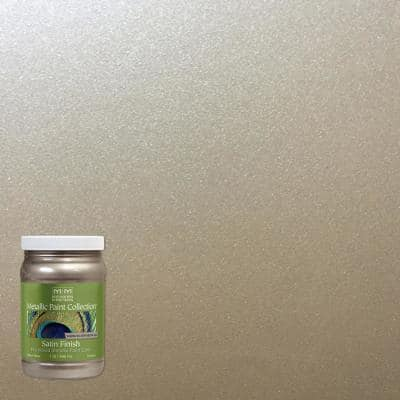 1 qt. Warm Silver Water-Based Satin Metallic Interior Paint