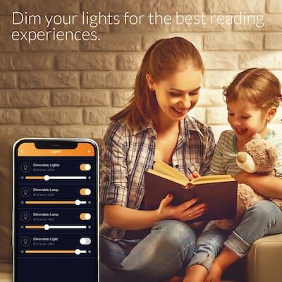ERIA Soft White Smart Light 60W Equivalent A19 Dimmable CRI 90+ Wireless Lighting Starter Kit (2 Smart Bulbs and Hub)