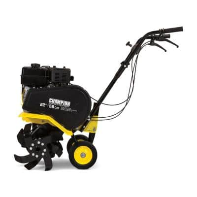 22 in. 212cc 4-Stroke Gas Garden Front Tine Tiller with Forward and Reverse