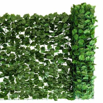 59 in. x 118 in. Faux Ivy Leaf Decorative Privacy Fence Screen Artificial Hedge Fencing