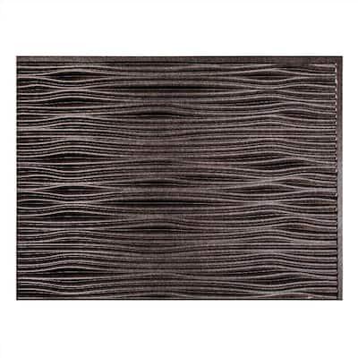 18.25 in. x 24.25 in. Waves Vinyl Backsplash Panel in Smoked Pewter (5-Pack)