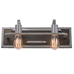 Lofty 2-Light Steel Vanity Light