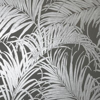 Palm Fabric Strippable Wallpaper (Covers 57 sq. ft.)
