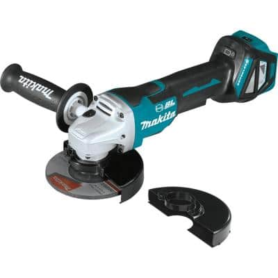 18-Volt Brushless 4-1/2 in. / 5 in. Cordless Paddle Switch Cut-Off/Angle Grinder with Electric Brake (Tool Only)