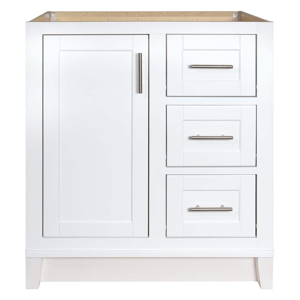 Glacier Bay Kinghurst 30 In W X 21 In D X 33 5 In H Bathroom Vanity Cabinet Only In White Khwht30dy The Home Depot