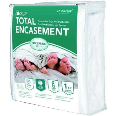 Lock-Up Twin Total Box Spring Encasement for Bed Bug Protection