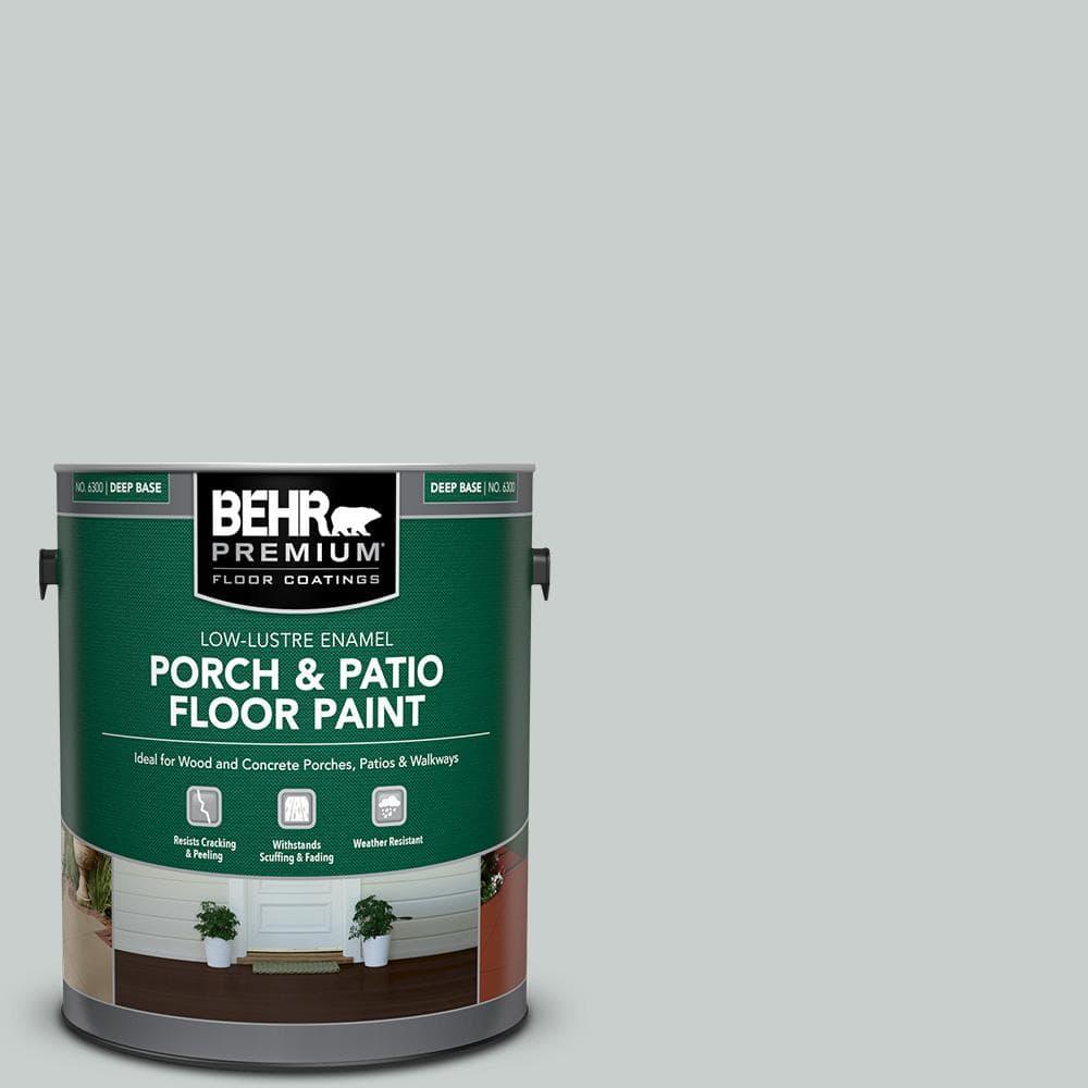 Behr Premium 1 Gal Pfc 61 Foggy Morn Low Lustre Enamel Interior Exterior Porch And Patio Floor Paint 605001 The Home Depot