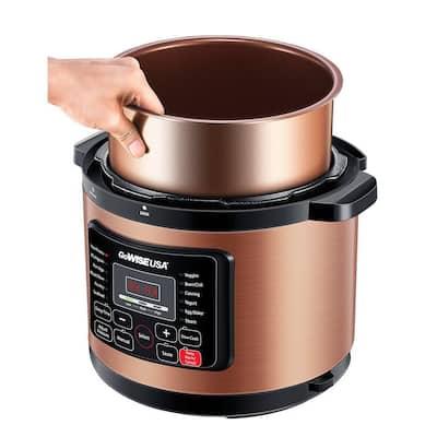6 Qt. Copper Electric Pressure Cooker with Non-Stick Interior