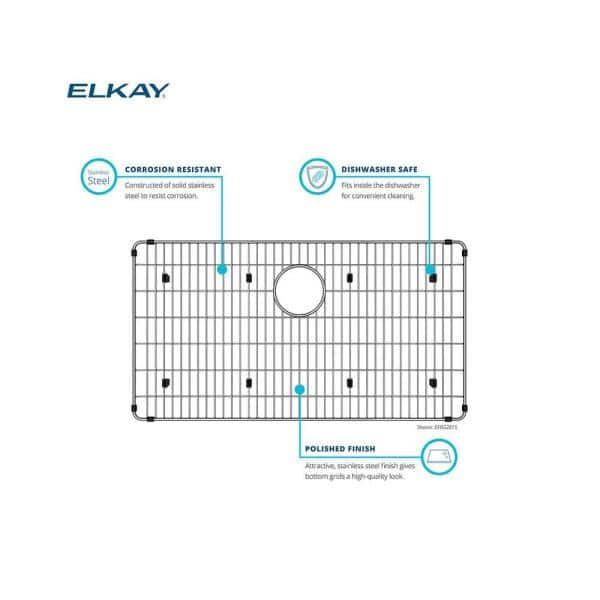 Elkay Lustertone 20 In X 14 75 In Bottom Grid For Kitchen Sink In Stainless Steel Lkwobg2115ss The Home Depot