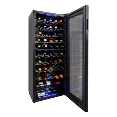 17.5 in. 50 Bottle Wine and 100 Can Electric Wine Cooler Width with Dual Adjustable Cooling Zones