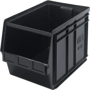 Recycled Magnum 27-Gal. Storage Tote in Black (1-Pack)