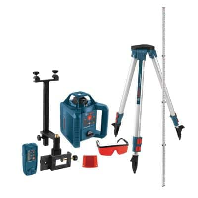 800 ft. Horizontal/Vertical Rotary Laser Level Self Leveling Complete Kit Factory (5-Piece)