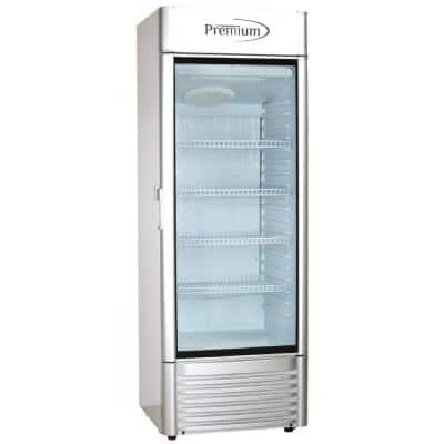 15 cu. ft. Single Door Commercial Refrigerator Beverage cooler in Gray