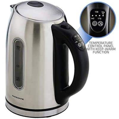 7.1-Cup Nickel Brushed Stainless Steel Electric Kettle Electric Kettle with Keep Warm Function, Auto Shut-Off