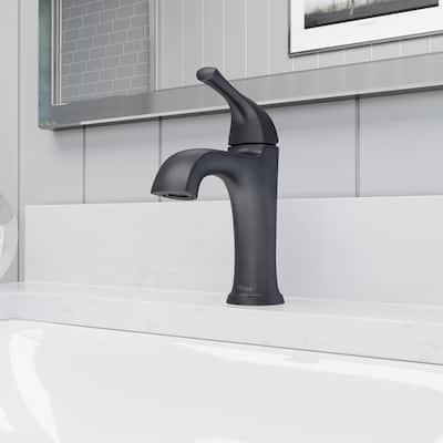 Ladera Single Hole Single-Handle Bathroom Faucet in Matte Black
