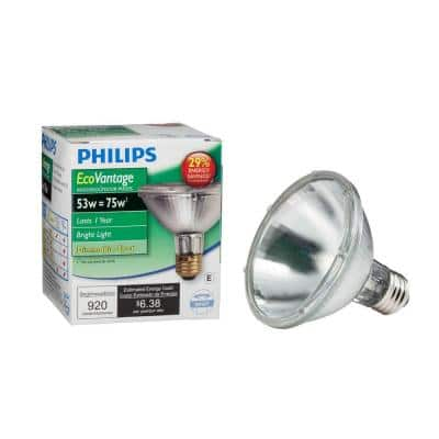 53-Watt Equivalent Halogen PAR30S Dimmable Spotlight Bulb