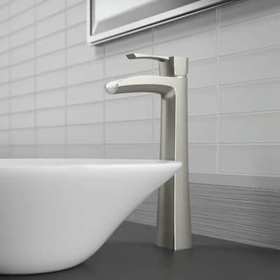 Single Hole Single-Handle Bathroom Faucet in Brushed Nickel