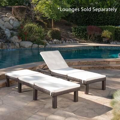 Caesar Cream Outdoor Chaise Lounge Cushion (2-Pack)