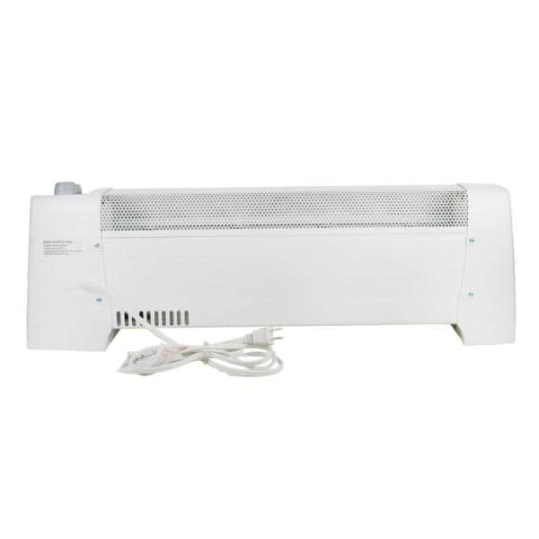 Comfort Zone 29 In 1 500 Watt White Convection Baseboard Heater With Silent Operation Cz600 The Home Depot