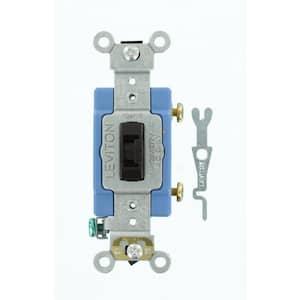 15 Amp Industrial Grade Heavy Duty Single-Pole Locking Switch, Brown