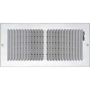 14 in. x 6 in. Ceiling/Sidewall Vent Register, White with 2-Way Deflection