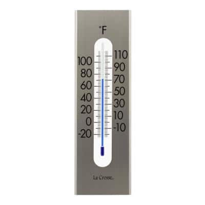9 In. Stainless Steel Traditional Analog Vertical Thermometer