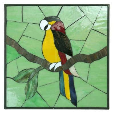 1 in. x 12 in. x 12 in. Square Polypropylene Parrot Decorative Garden Step Stone