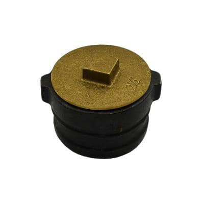 3 in. x 2-1/4 in. No Hub Cast Iron Cleanout with 2-1/2 in. New Orleans Code Plug for DWV