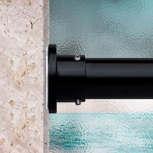 28 in. - 50 in. Tension Curtain Rod in Black