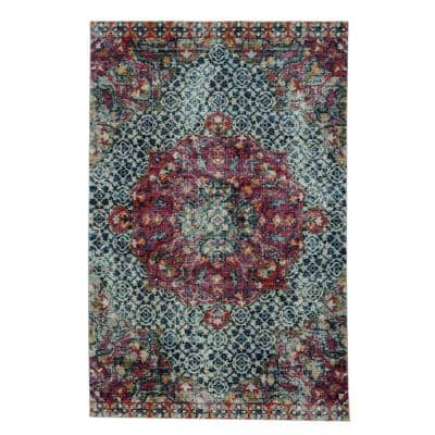 Benz-Ezine Red 5 ft. x 8 ft. Rectangle Machine Woven Area Rug