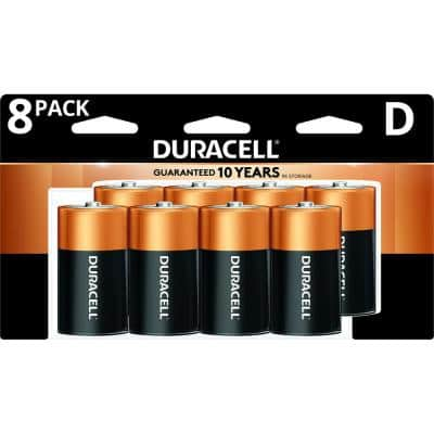 Coppertop Alkaline Size D Battery Assortment Pack (4-Count, 8-Count, 2-Pack)