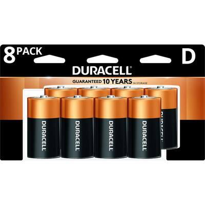 Coppertop Alkaline D Battery (8-Pack)